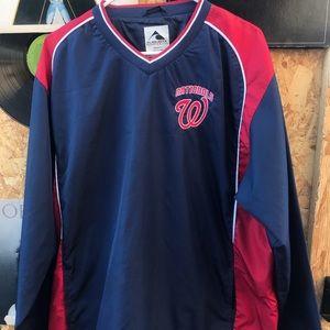 Washington nationals pullover jacket